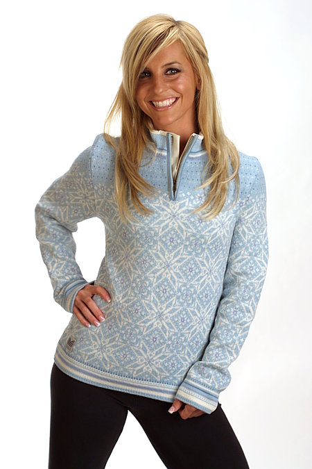 Dale of Norway Vail Feminine Sweater (Glass Blue)