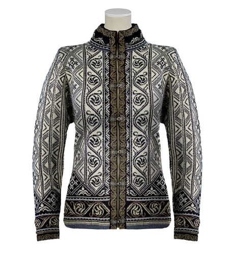 Dale of Norway Voss Jacket Women's (Steel / Black / Cream / Taup