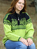 Devold Snaufjell Sweater (Lime / Black)