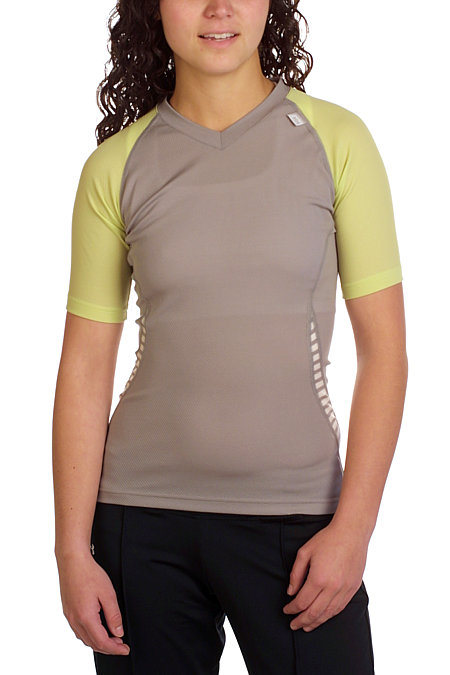 Helly Hansen LIFA DRY V-Neck Tee Women's (Lime / Penguin)
