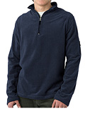Horny Toad Brody Cashmoore Zip Long Sleeve Shirt Men's (Blue Steel)
