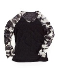Hot Chillys Pepperskins Baseball Crewneck Kid's (Black / Storm)