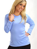 Hot Chillys Crewneck Base Layer Women's (Sky)