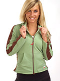 Hot Chillys Panel Crop Hoodie Women's (Leaf / Java)