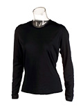 Hot Chillys Pepperskins Crewneck Base Layer  Women's (Black)