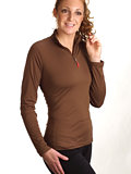 Hot Chillys Zip T Layer Women's (Java)