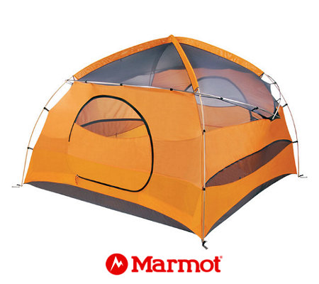 Marmot Halo 4 Person Tent (Pale Pumpkin / Terra Cotta)