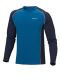 Marmot Midweight Crew Long Sleeve Men's (Vapor Blue / Peacoat)