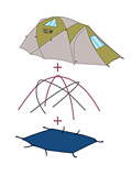 Mountain Hardwear Drifter 3 Tent Footprint PL