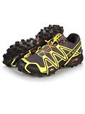 Salomon Speedcross 3 Trail Racing Shoe Men's (Black / Canary Yellow / Autobahn)