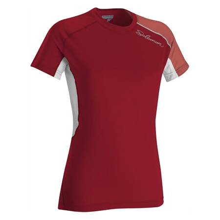 Salomon Trail Runner II SS Tech Tee Women's (Cherry-X / Pale Che