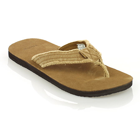 Sanuk Frayed Not Sandals Men's (Khaki)
