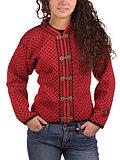Selbu Lofoten Norwegian Cardigan Women's (Red / Black)