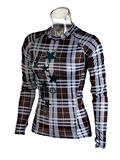 Sessions Diffusion Plaid Crew  Women's (Icicle Blue Plaid)
