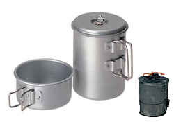 Snow Peak 1-Person Mini Solo Titanium Cookware Set