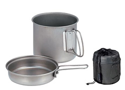 Snow Peak 1-Person Trek 900 Titanium Cookware (Titanium)