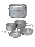 Snow Peak 2-Person Multi Compact Titanium Cookware Set (Titanium)