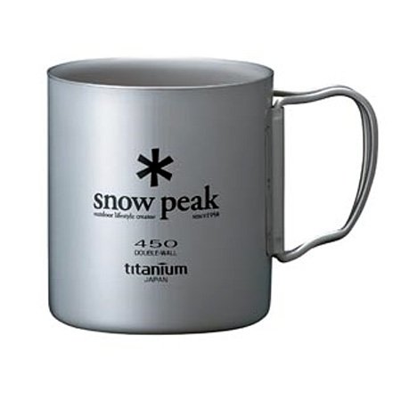 Snow Peak Titanium Double Wall Folding Handle Cup (450)