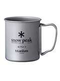 Snow Peak Titanium Single Wall 450 Cup (Titanium)