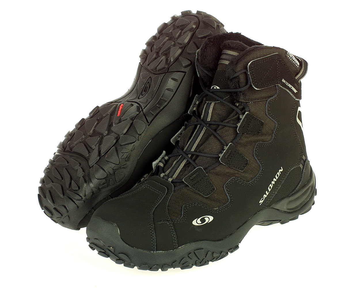 Details about Salomon Snowtrip Snow Trip Waterproof Fake Fur Thinsulate Lined Boots Mens 10