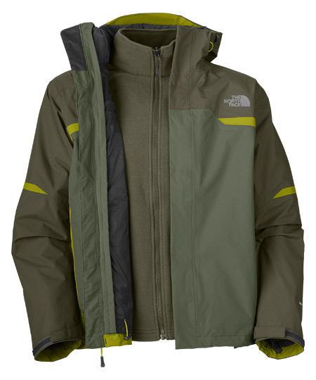 The North Bantum Fleece Triclimate Jacket  Men's (Anchorage Gree