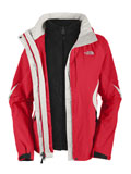 The North Face Boundary Triclimate Jacket Women's (Response Red / TNF White)