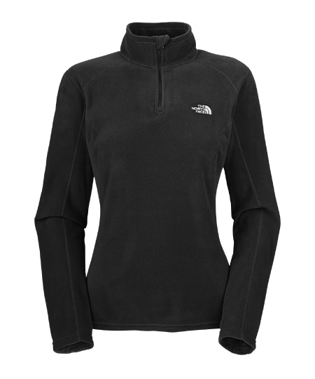 The North Face TKA 100 Microvelour Glacier 1/4 Zip Women's (Blac