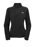The North Face TKA 100 Microvelour Glacier 1/4 Zip Women's (Black)