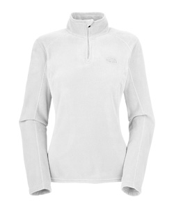 The North Face TKA 100 Microvelour Glacier 1/4 Zip Women's (White)