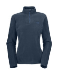 The North Face TKA 100 Microvelour Glacier 1/4 Zip Women's (Denim Blue)
