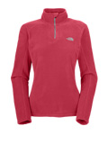 The North Face TKA 100 Microvelour Glacier 1/4 Zip Women's (Retro Pink)