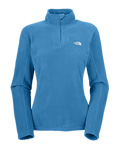 The North Face TKA 100 Microvelour Glacier 1/4 Zip Women's (Louie Blue)
