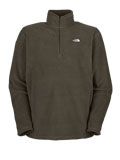 The North Face TKA 100 Microvelour Glacier 1/4 Zip Men's (New Taupe Green)