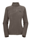 The North Face TKA 100 Microvelour Glacier 1/4 Zip Women's (Weimaraner Brown)