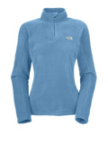 The North Face TKA 100 Microvelour Glacier 1/4 Zip Women's (Alpine Blue)