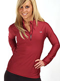 Under Armour ColdGear Velocity Pullover Women's (Brick Red)