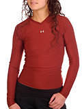 Under Armour Longsleeve Frequency Tee Women's (Broadway Red)
