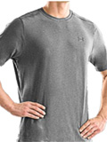 Under Armour TNP T Short Sleeve Shirt Men's (Medium Gray Heather / Metal)