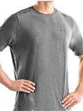 Under Armour TNP T Short Sleeve Shirt Men's (Medium Gray Heather / Metal)