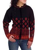 Selbu Rose Cardigan Women's (Red / Black)