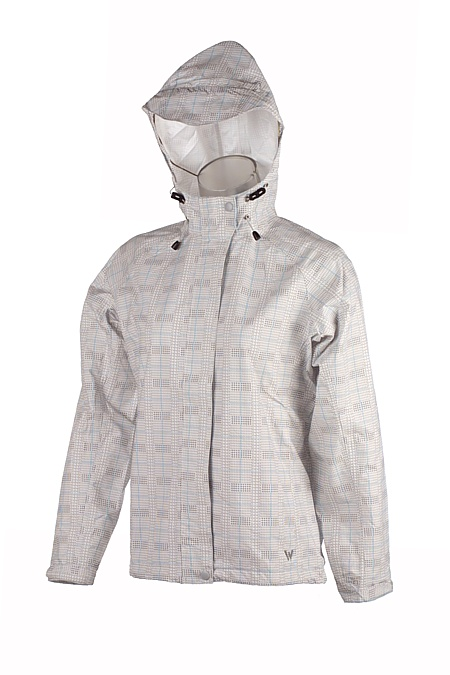 White Sierra Trabagon Plaid Printed Rain Jacket Women's (White)