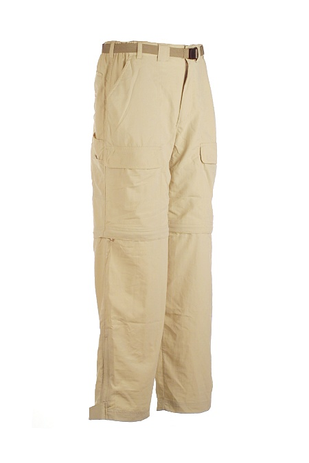 White Sierra Trail Convertible Pant Men's (Stone)